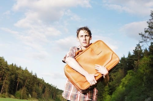 Emotional hijacking and a man with a suitcase trying to forgive